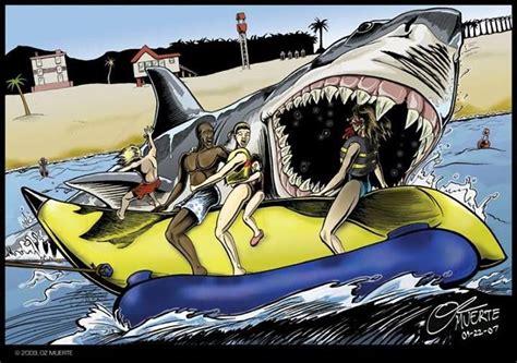 jaws banana boat attack jaws revenge movie scene art attack banana boat movie