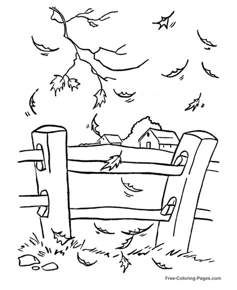 free coloring pages autumn fall printable fall coloring pictures 09