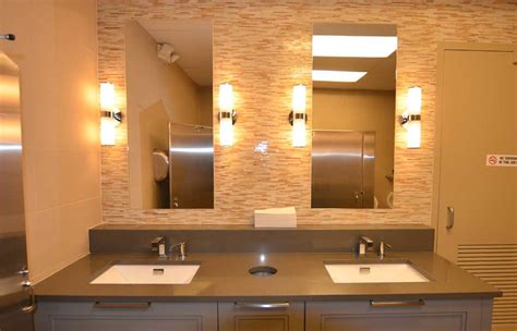 Commercial Bathroom Mirror by Commercial Construction John Petrocelli Construction