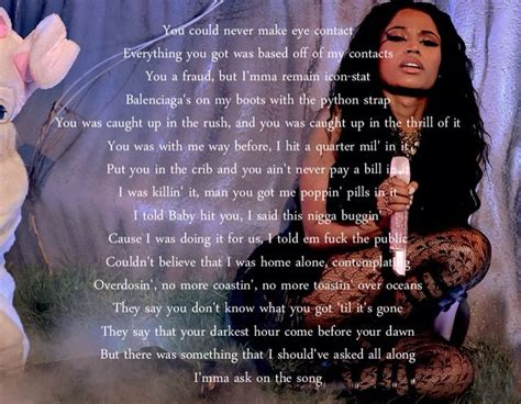 bed of lies lyrics best 25 nicki minaj i lied ideas on pinterest nicki