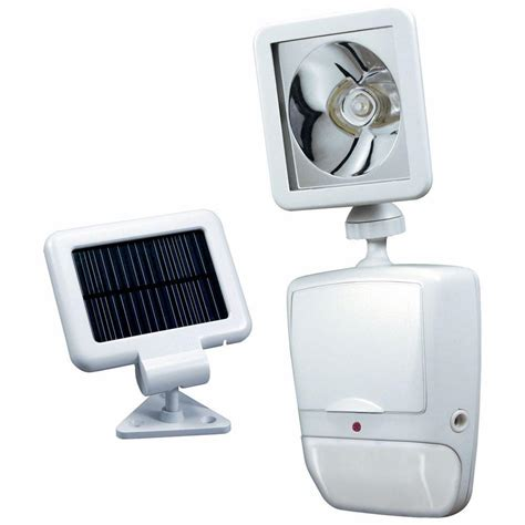 Heath Zenith 180 Degree White Motion Sensing Solar Powered Solar Powered Lights Home Depot