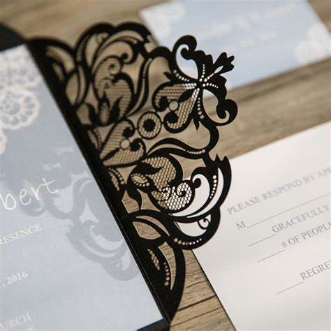 Cheap Wedding Invitations Black by Blue Wedding Invitations Cheap At Wedding Invites