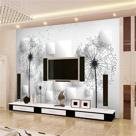 modern 3d wall tiles mural tv background wall non woven 3d wallpaper brief