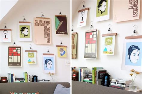 hang posters without frames save a wall hang a poster 20 ideas for alternative art