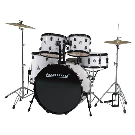 Drum Set ludwig accent fuse 5 drum set with hardware cymbals 20 quot bass 14 quot snare 10 12 14 quot toms