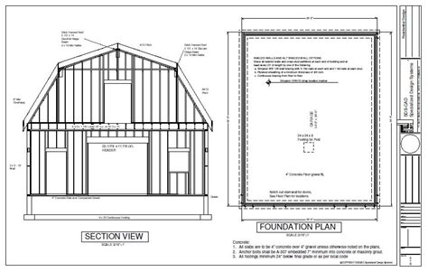Gambrel Barn Plans by G440 28 X 36 X 10 Gambrel Barn Workshop Plans Blueprint