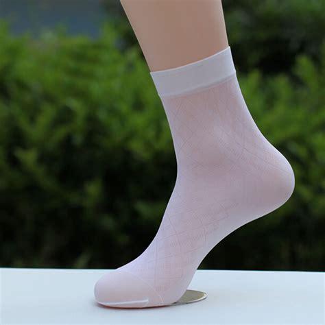 Floral Sheer Socks mens socks new business floral ultra thin sheer