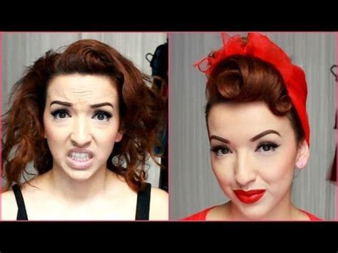 hairstyle makeovers for 50 complete vintage pinup makeup and hairstyle makeover
