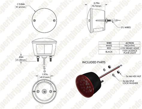stop turn tail light wiring diagram tls r17hf r wiring diagram super bright led trailer tail