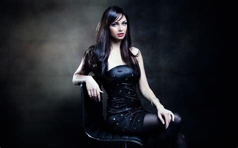wallpaper black girl black hair girl posture sitting on chair wallpaper
