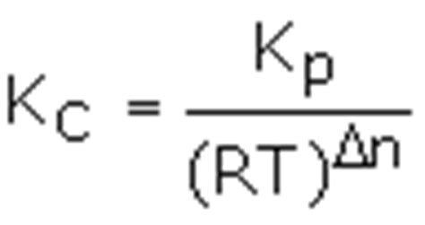 what is the relationship between kp and kc 3668128