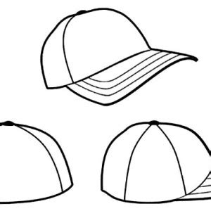 baseball cap coloring page clipart best