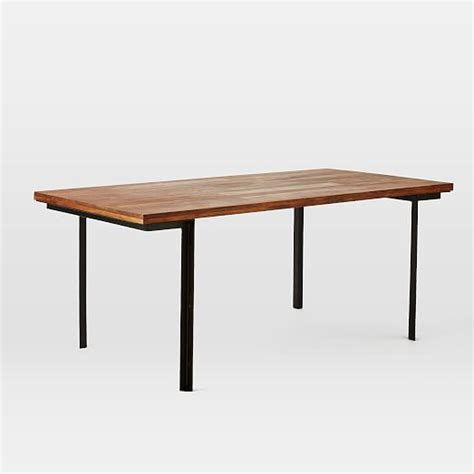 industrial dining tables industrial dining table west elm