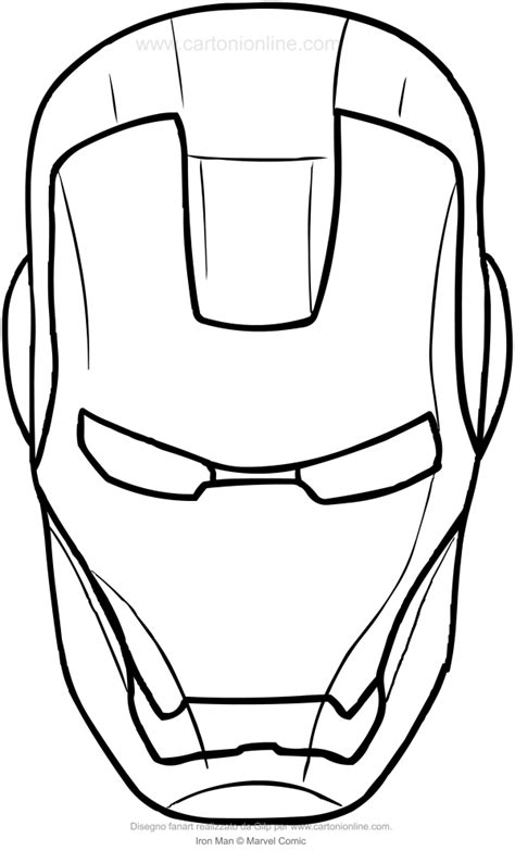iron man helmet coloring pages iron man mask coloring pages getcoloringpagescom sketch