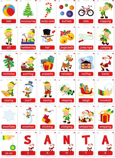 learning christmas printable festival collections