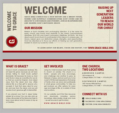 church bulletin templates with tear out visitor card churchbrochure 13 churches church ideas and church