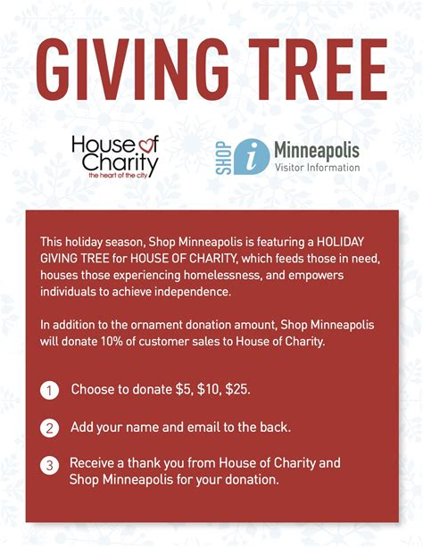 quot shop minneapolis quot holiday giving tree house of charity