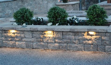 stone wall accent lighting iluma hardscape retrofit lighting system enables quick