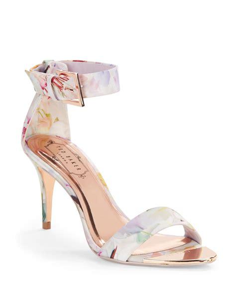 Floral Sandals ted baker blynne floral open toe sandals in white lyst