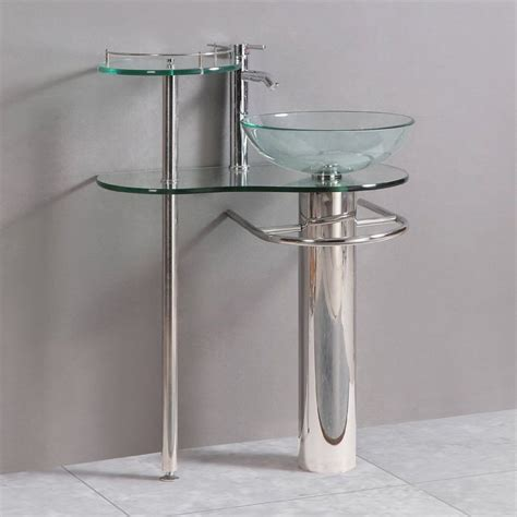 Glass Vanities And Sinks by Shop Kokols Usa Clear Vessel Single Sink Bathroom Vanity