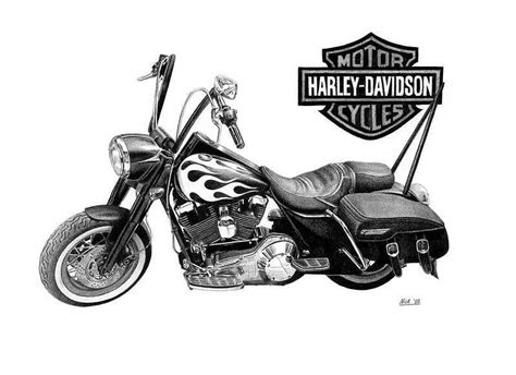 Harley Davidson Drawings by Harley Davidson Drawing By Nick Naethuijs