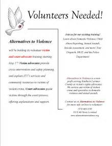 alternatives to violence needs volunteers