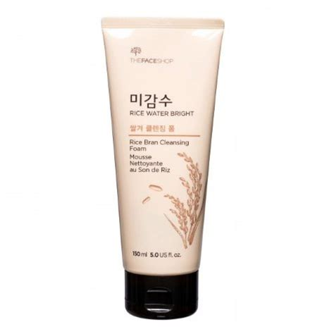 The Shop Rice Water Bright Cleansing Foam the shop rice water bright rice bran cleansing foam seoul next by you malaysia