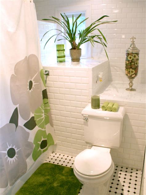 Shower Curtain Ideas For Small Bathrooms colorful bathrooms from hgtv fans bathroom ideas