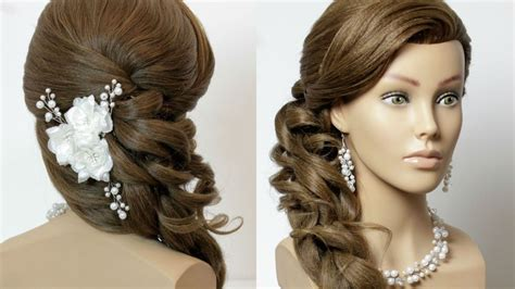 Bridal Hairstyles For Hair Tutorial by Prom Bridal Hairstyle For Hair With Curls Tutorial