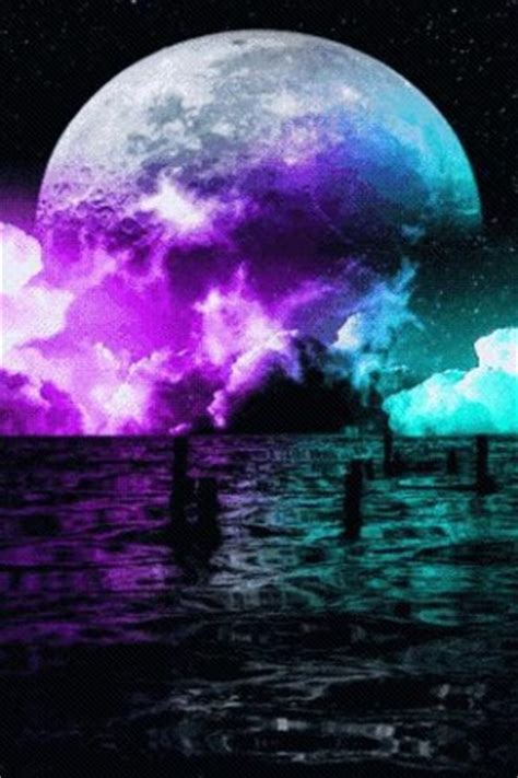 colorful moon wallpaper moon colors live wallpaper app for android