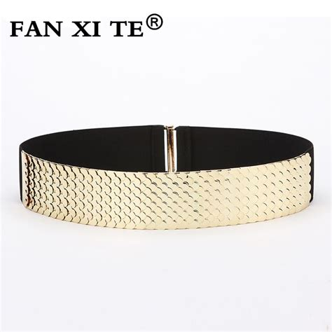 fashion high quality elastic metal belts for