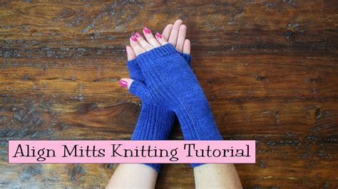 verypink knits align mitts knitting tutorial