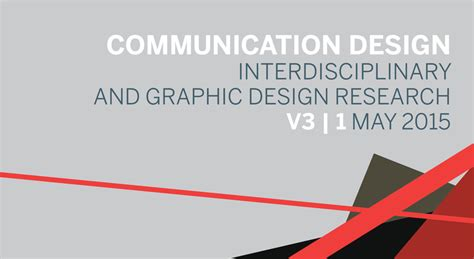 graphic design visual journal communication design interdisciplinary and graphic design