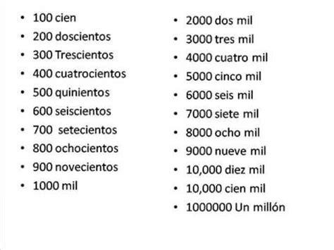imprimir numeros de 100 a 1000 009 learn spanish course online lesson 9 quot n 250 meros del 100