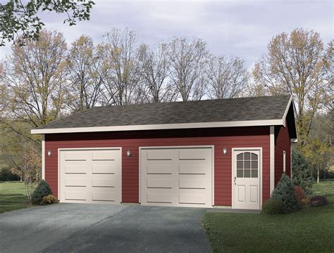 3 1 2 car detached garage detached 3 car garage with detached drive thru garage plan 22049sl cad available