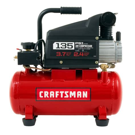 craftsman 3 gallon air compressor 3 gallon lube 135psi portable air