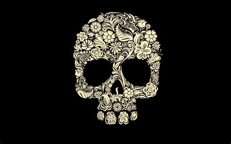 wallpaper skull flower gothic roses wallpaper 63 images