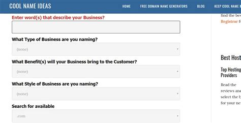ideas generator 26 free business name generators to find the best brand names