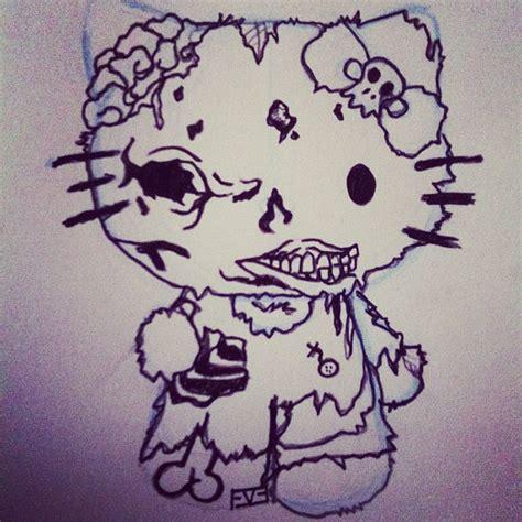 hello kitty zombie wallpaper hello kitty zombie by berryknotty on deviantart