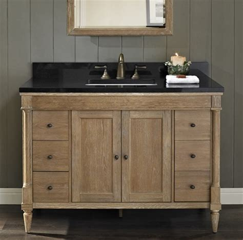 Weathered Bathroom Vanity Rustic Chic 48 Quot Vanity Weathered Oak Fairmont Designs Fairmont Designs