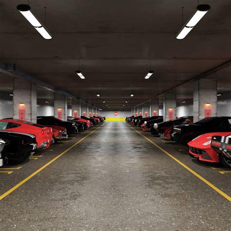 underground parking 3d underground parking model