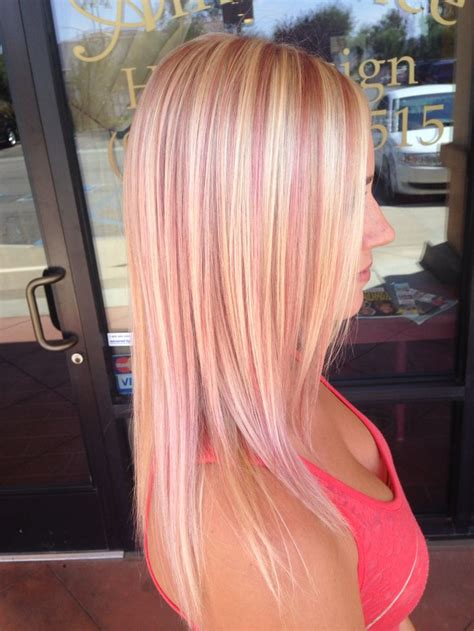 hairstyles with blonde and pink highlights 25 best ideas about pink hair highlights on pinterest