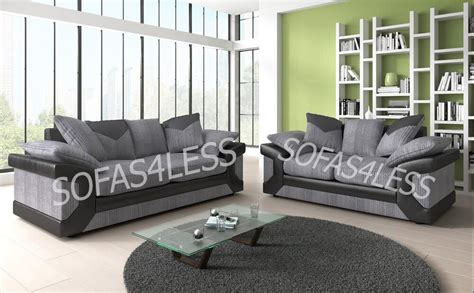 huge sale  dino  seater sofa fabric faux leather black grey brown cheap ebay