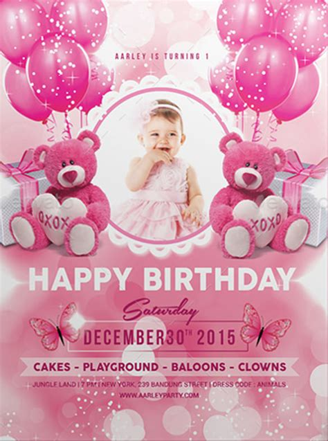 Birthday Card Template Psd Birthday Invitation Card Psd Free Infoinvitation Co