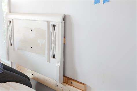 how to hang a headboard on a wall use what you have decorating cushioned headboard in my