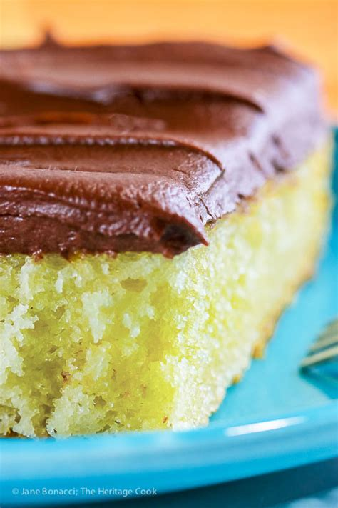 finally that perfect homemade yellow cake tender yellow cake with fudge frosting gluten free the