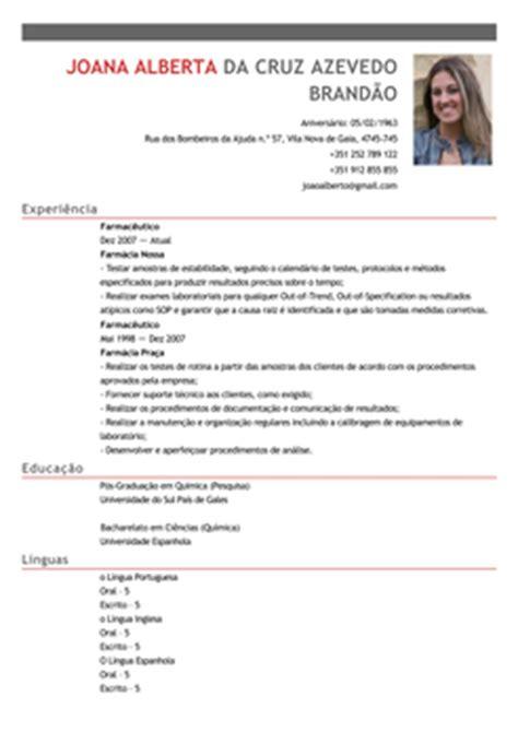 Modelo Curriculum Vitae Quimico Modelo De Curriculum Quimico Exemplo De Cv Farmac 234 Utico Livecareer