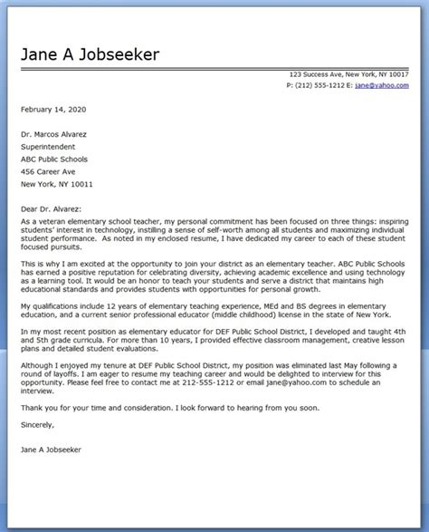 brilliant ideas of cover letter format for english teacher in sample