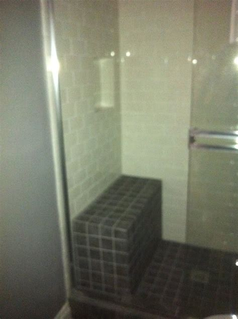 shower bench seat tile tile shower with bench seat and shoo niche yelp