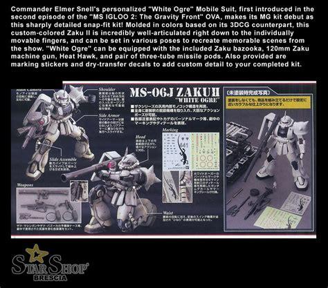 Master Grade Zaku White Ogre gundam 1 100 zaku ii white ogre igloo image color ver
